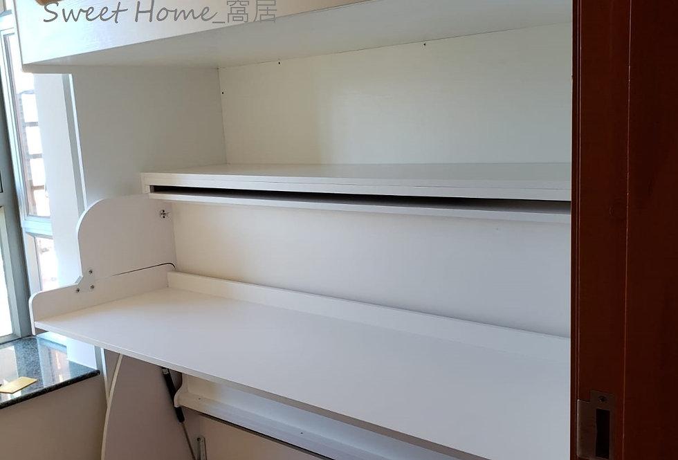 客人訂制 (將軍澳中心) #書桌變形床 #高架床 #掩門衣櫃 實物相片#1062