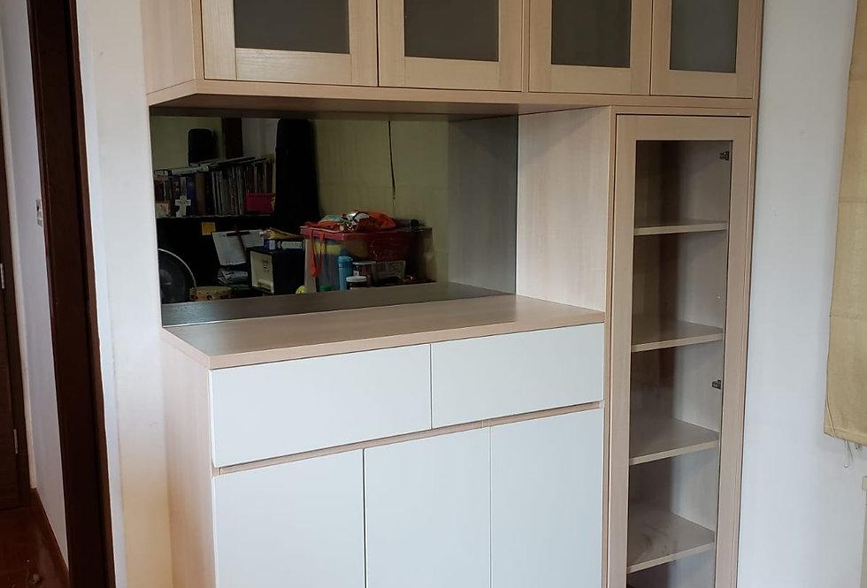 客人訂制(元朗蝶翠峄) C字裝飾儲物櫃及小什物櫃 實物圖片#899