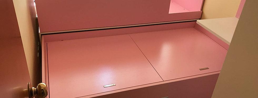 客人訂制 粉紅系列窗台子母床  實物圖片#340