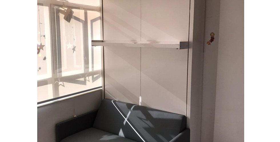 客人訂制  雙人梳化隱形床+衣櫃  實物圖片#795