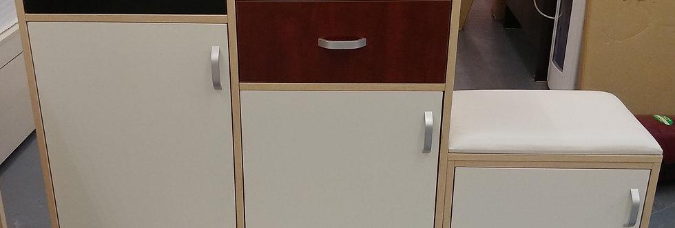 北歐式簡約拼色什物櫃+換鞋櫈 TM100-1030