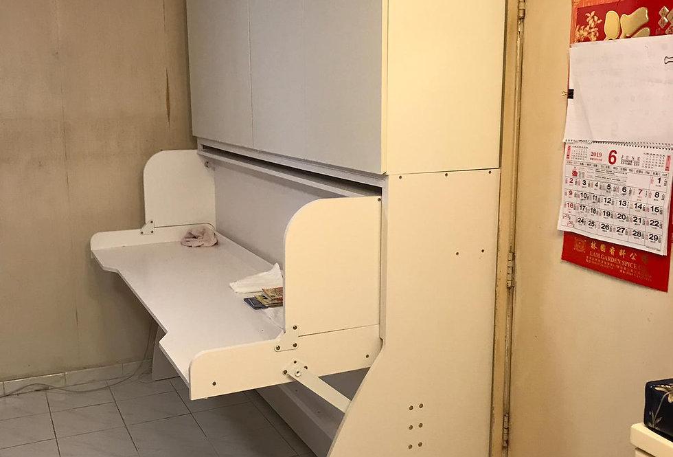 客人訂制 鞋櫃+吊櫃+書桌隱形床 #647
