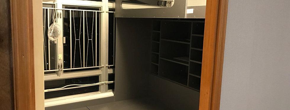 客人訂制 高架床+地台床 實物圖片