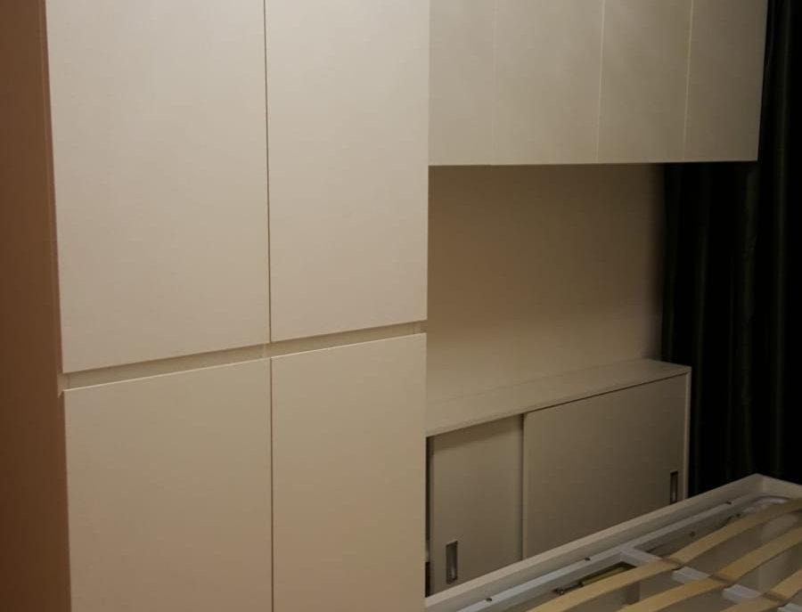 客人訂制  梳妝台+儲物櫃+層板 實物圖片#466