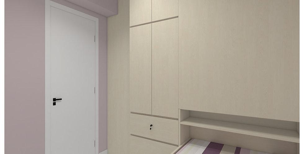 客人訂制(星河明居) #間房櫃+櫃桶床+儲物櫃 實物圖片#790
