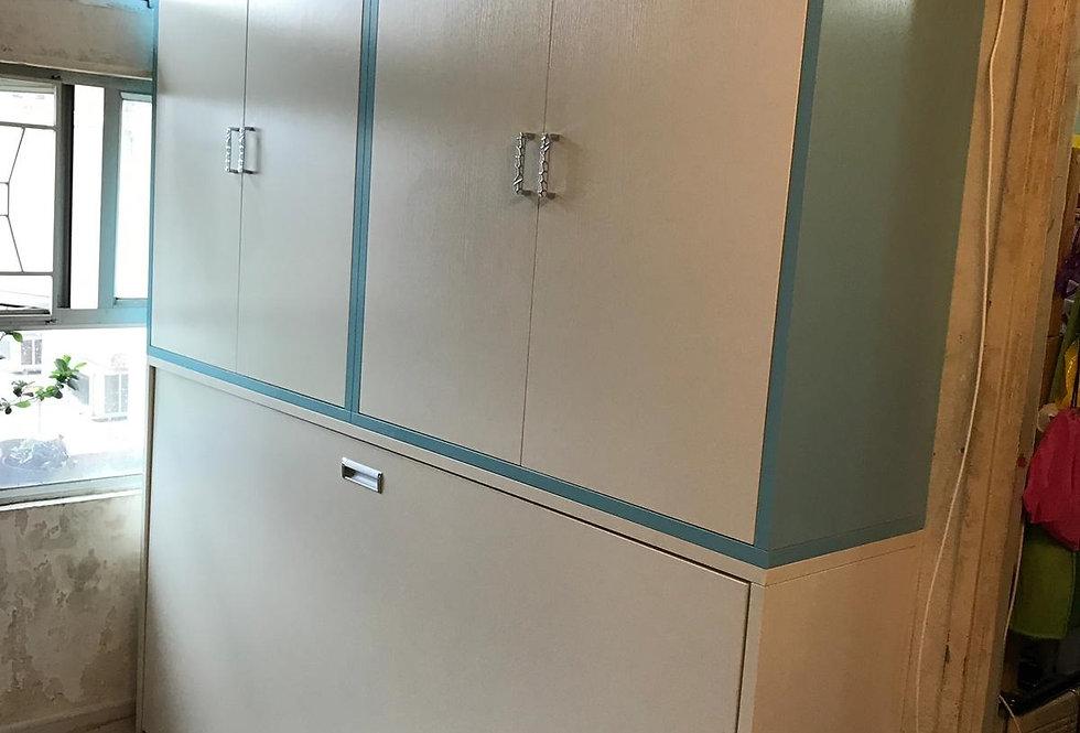 客人訂制  3尺闊側翻隱形床連衣櫃 實物圖片#622