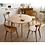 Thumbnail: 實木白橡木圓形餐桌 E203-1074