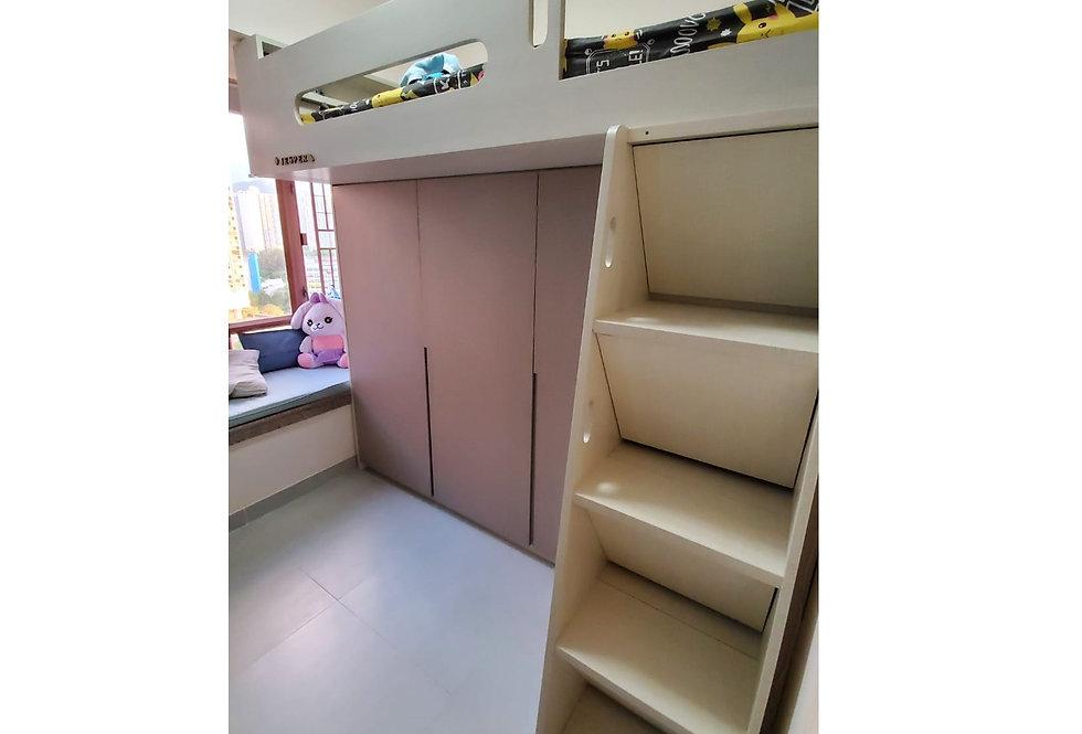客人訂制 (馬鞍山區) #多用床 #趟門衣櫃 #地台床連床頭櫃 實物相片#1050