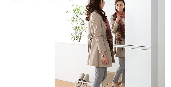 日式鏡面鞋櫃組合 N100-1029