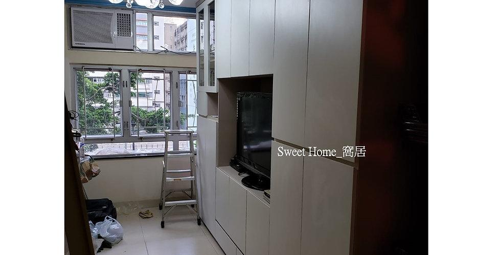客人訂制 (葵興) 10呎闊電視飾櫃儲物櫃 實物圖片#908