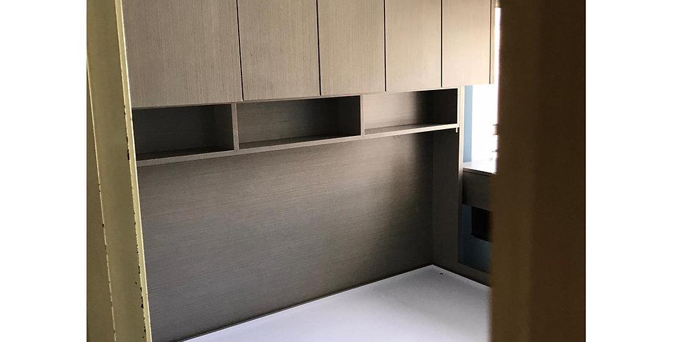 客人訂制  3呎闊床櫃組合+窗台書枱 實物圖片#813