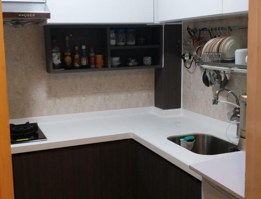 客人訂制 曲尺廚櫃+石面櫃桶櫃 實物圖片#731