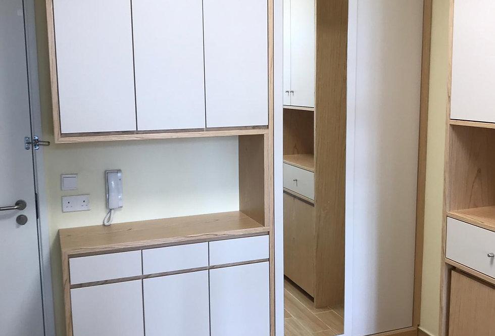 客人訂制  C字廳櫃,餐櫃連餐桌 實物圖片#708