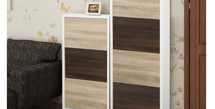 3層 或 4層木色翻門鞋櫃 N177-1035