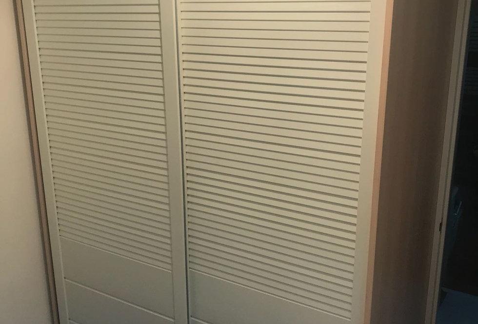 客人訂制 2組推拉門衣櫃(間房)+皮床  實物圖片#294