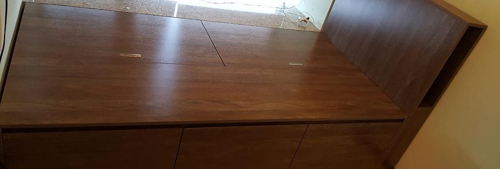 客人訂制 駁窗台揭板床  實物圖片#442