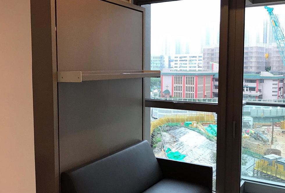 客人訂制(海傲灣)  雙人梳化隱形床+吊櫃  實物圖片#845