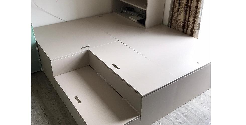 客人訂制  #夾板儲物床箱組合 實物圖片#784