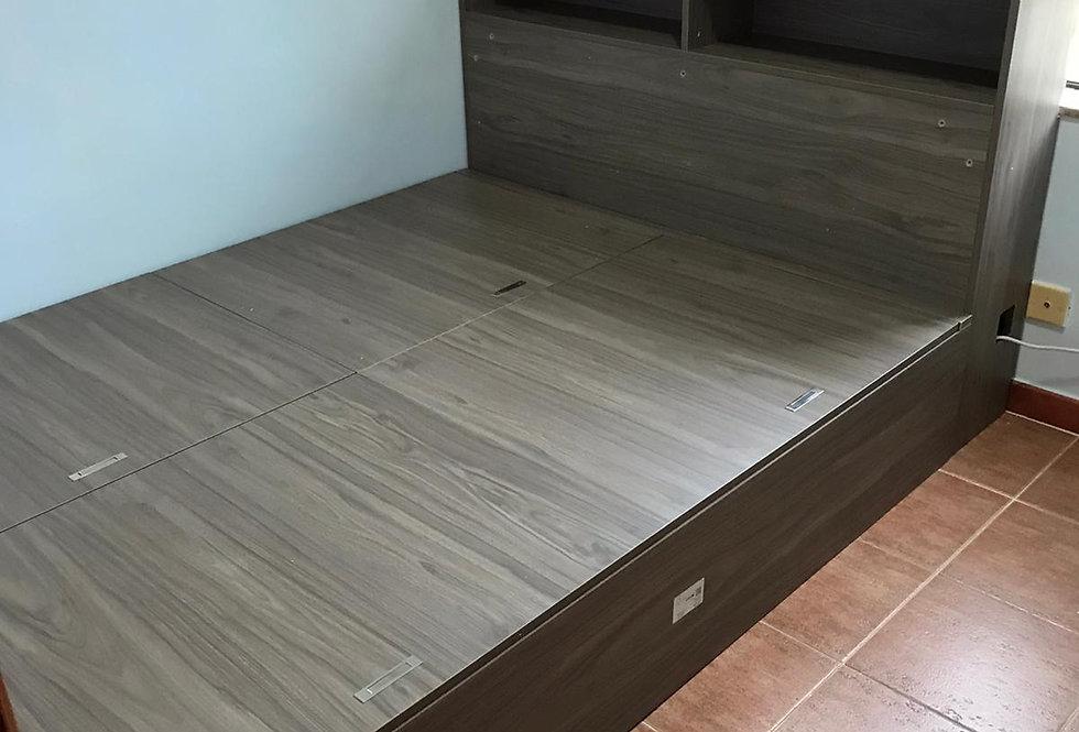 客人訂制  5呎闊揭板床連床頭櫃 實物圖片#818