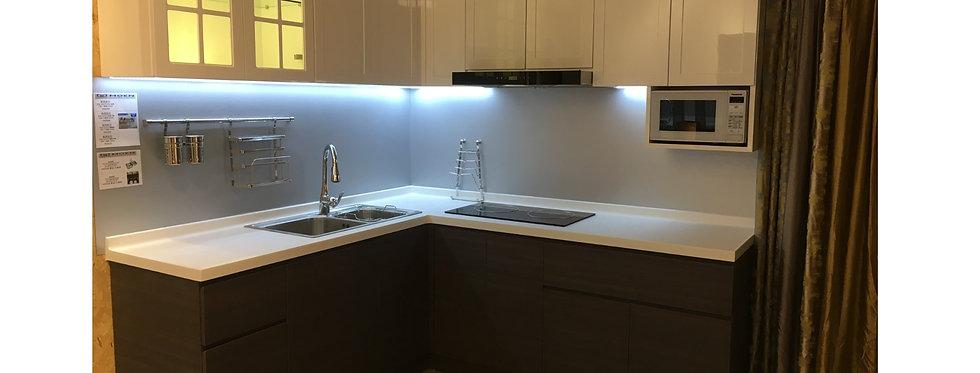 簡約現代廚櫃 連伸縮餐枱組合 TM212-1039