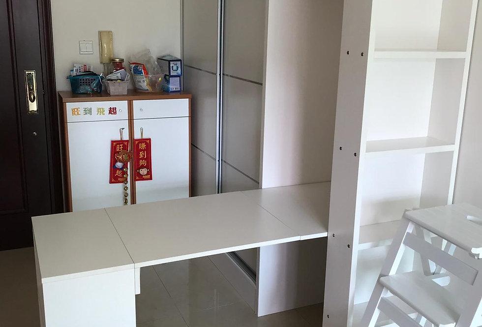 客人訂制 床櫃組合連伸縮餐枱 實物圖片#691