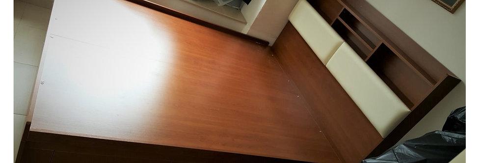 客人訂制 5呎油壓床+床頭櫃#637