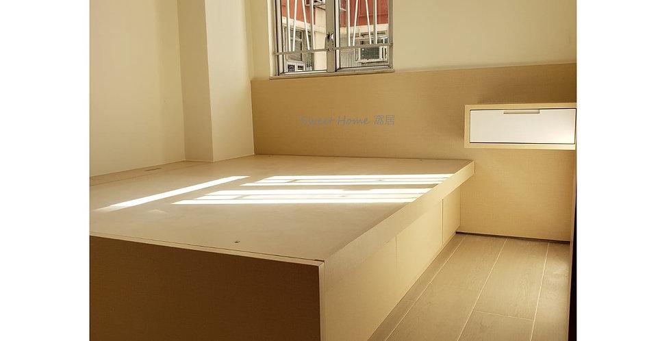 客人訂制  (九龍灣麗晶花園) #油壓床 #C字廳櫃 實物相片#1081