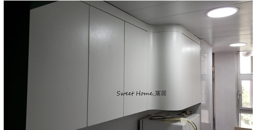 客人再次訂制 (觀塘寶珮苑) #廚房吊櫃+地櫃 +活動櫃 實物相片#1074