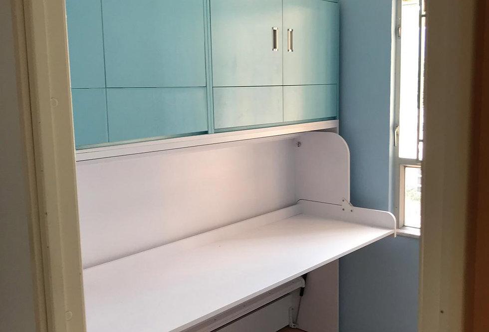 客人訂制  3尺闊書桌隱形床連吊衣櫃 實物圖片#617