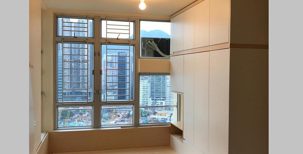 客人訂制 4呎闊油壓床連6尺闊衣櫃組合 實物圖片#727