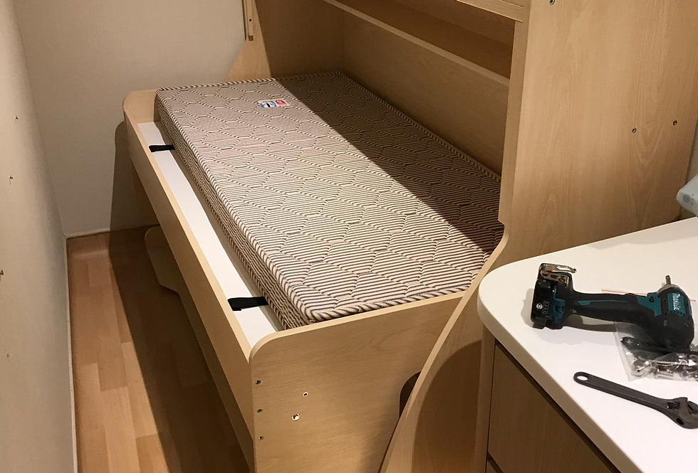 客人訂制  2呎半闊書桌隱形床  實物圖片#720