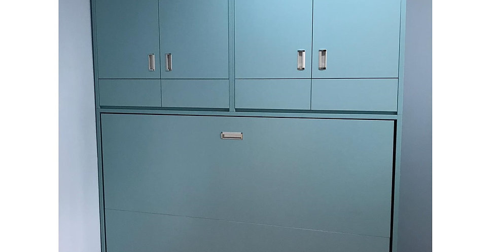 客人訂制  4尺闊側翻隱形床連衣櫃 實物圖片#596
