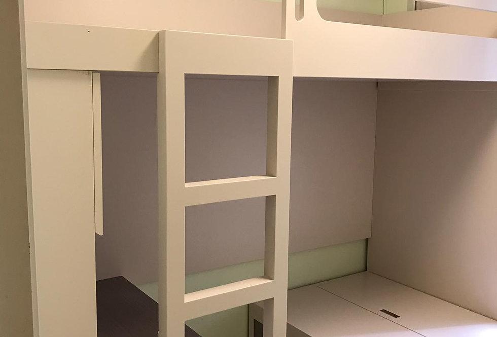 客人訂制 書櫃+ 櫃桶床+書枱+高架床 實物圖片#744