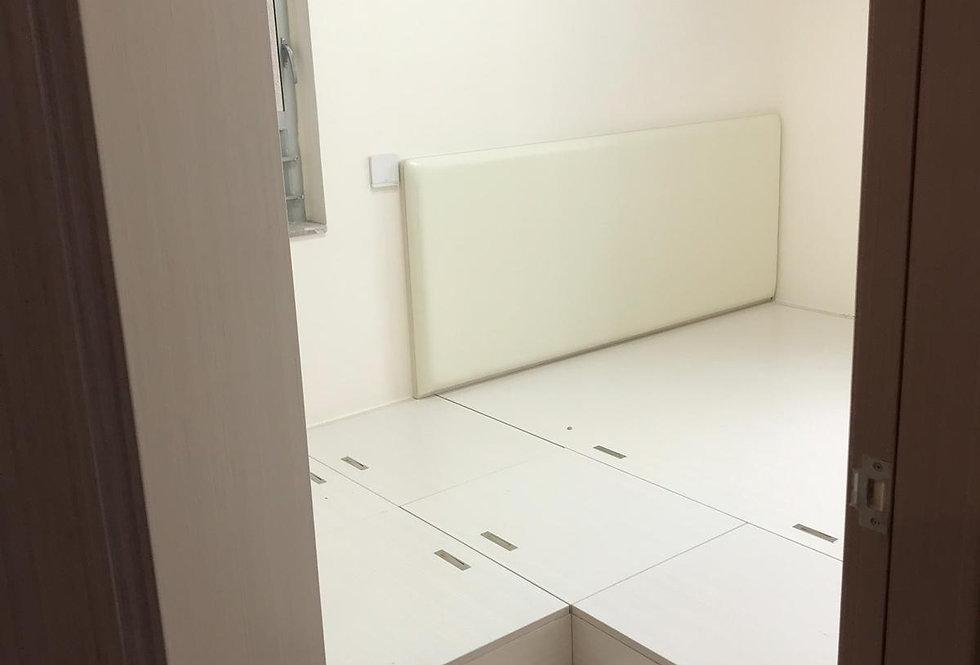 客人訂制 衣櫃地台床組合 實物圖片#519