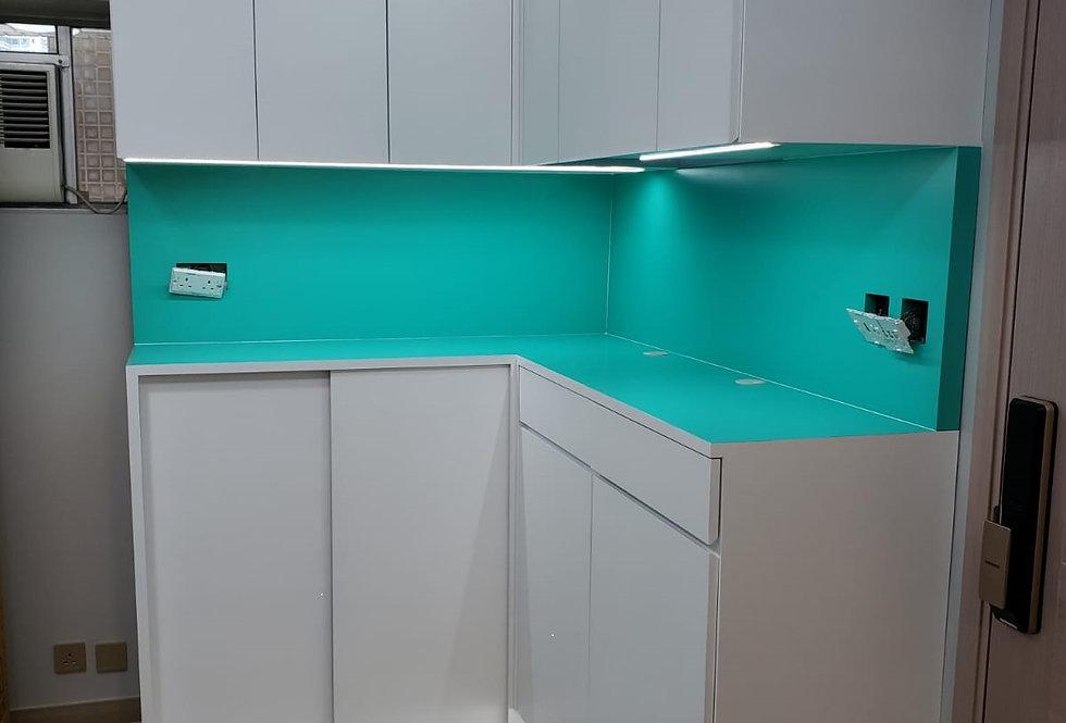 客人訂制 (將軍澳區) #廚櫃 #廁櫃 #衣櫃, #C字廳櫃, 窗台床  實物相片#970