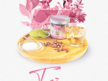 Trà Hoa Hồng – Giúp tăng nội tiết tố nữ, giúp làm đẹp da, ngừa lão hóa da!
