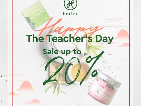 HAPPY TEACHER'S DAY ️- CÙNG HERBIO TRI ÂN THẦY CÔ
