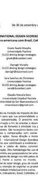 INTERNATIONAL DESIGN SCOREBOARD: ABORDAGEM LATINO-AMERICANA COM BRASIL, COLÔMBIA E URUGUAI