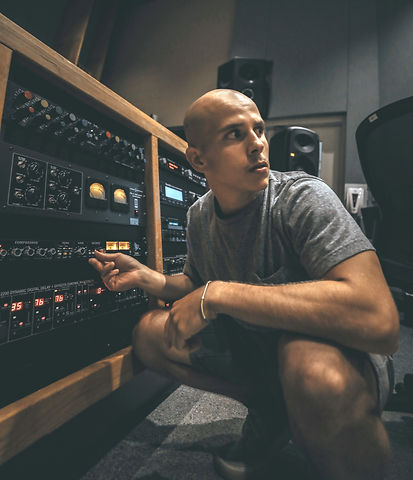 Mastering some music at Middle Tenneessee State Universitie's Studio A.JPG