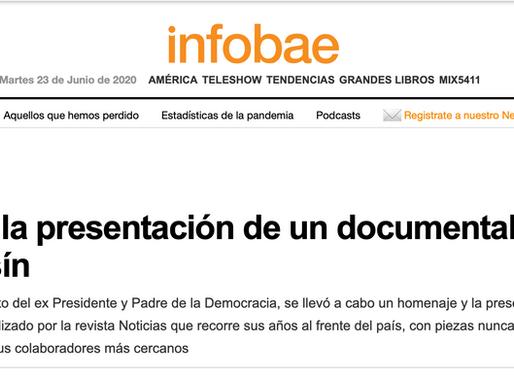 45 fotos de la presentación de un documental sobre Raúl Alfonsín