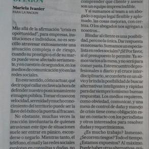 Las crisis no dan una segunda oportunidad (La Nación)