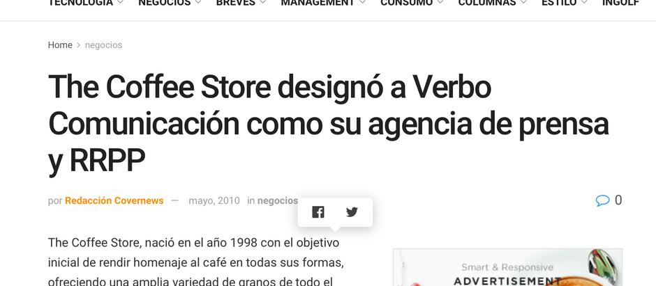 The Coffee Store designó a Verbo Comunicación como su agencia de prensa y RRPP