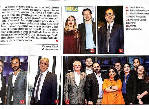 Homenaje Alfonsín (Revista Noticias)