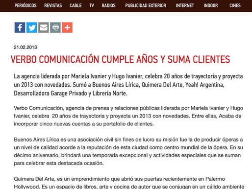 VERBO COMUNICACIÓN CUMPLE AÑOS Y SUMA CLIENTES