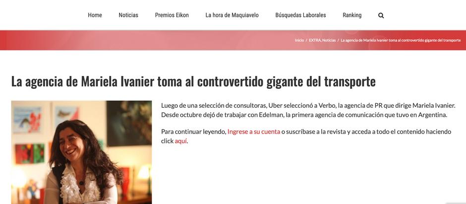 La agencia de Mariela Ivanier toma al controvertido gigante del transporte