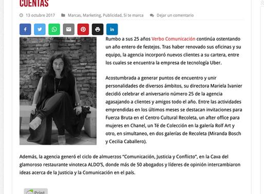 VERBO COMUNICACIÓN CON #25AÑOS CELEBRACIONES Y NUEVAS CUENTAS
