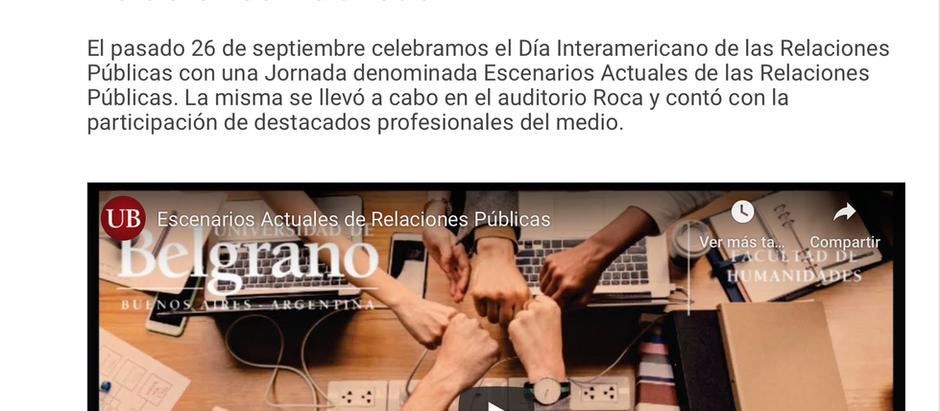 Jornada Escenarios Actuales de las Relaciones Públicas