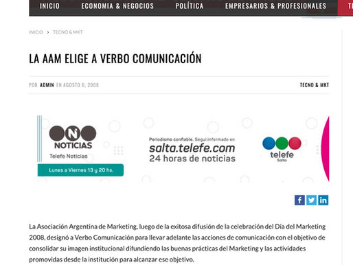 LA AAM ELIGE A VERBO COMUNICACIÓN