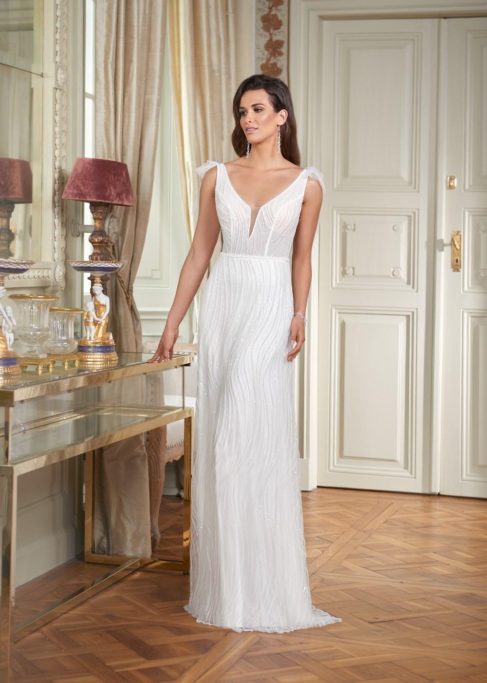 Suknia ślubna Margarett - COLLEZIONE CRISTALLO Campanello