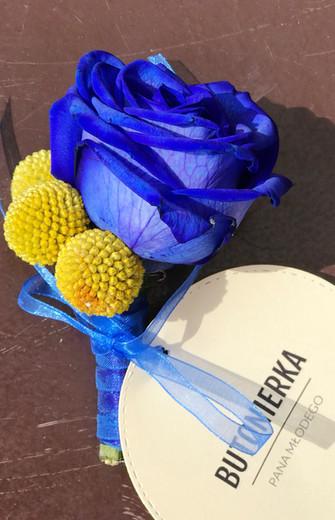 Vivat kolory! Żółty i chabrowy na weselu :)